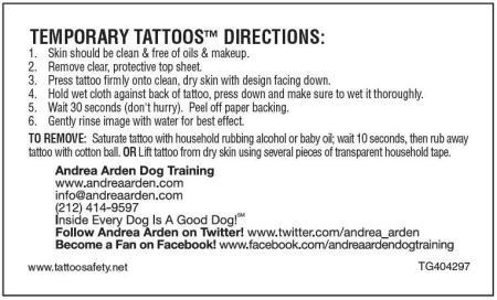 Temporary Tattoo Business Card