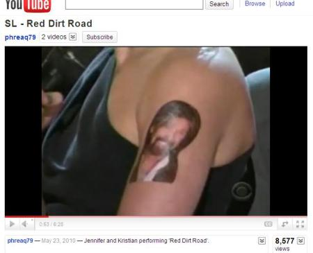 Ronnie Dunn Temporary Tattoo