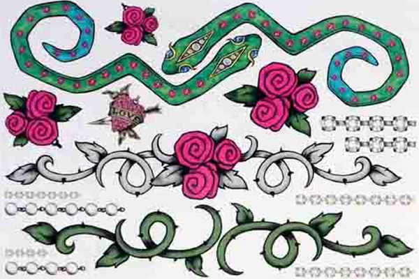 rose vine tattoos. thorny vine tattoos,items