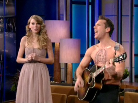 taylor swift dane cook temporary tattoo
