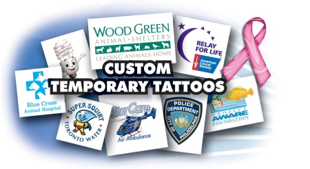 custom fake tattoo promotional product