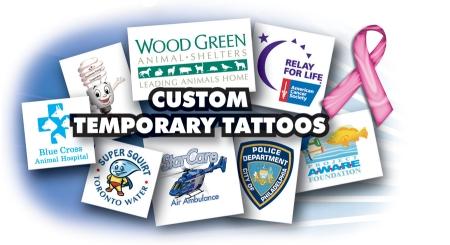 custom fake tattoo promotional product