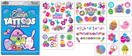Easter Temporary Tattoo Assortment