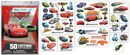 Disney Cars Temporary Tattoos