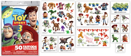 Toy Story 3 Temporary Tattoos