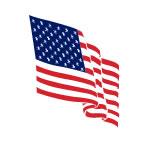 American Flag Temporary Tattoo