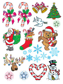 Christmas Temporary Tats