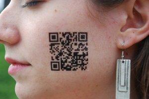 QR code temporary tattoo