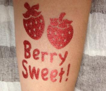 Berry Sweet Skin Sugar Glitter Temporary Tattoo
