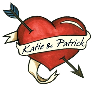 Katie & Patrick custom heart tattoo