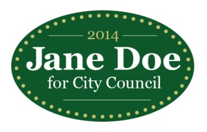 """Jane Doe for City Council"" temporary tattoo"
