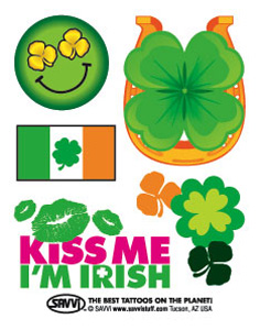 St. Patrick's Day temporary tattoos