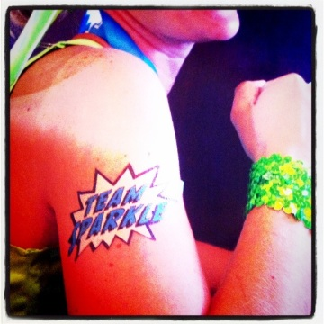 Team Sparkle temporary tattoo
