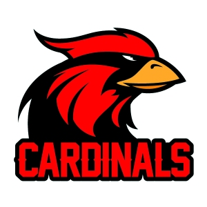 Cardinals mascot custom temporary tattoo