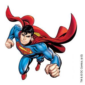 Superman temporary tattoo