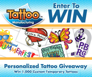 Temporary Tattoo GIveaway