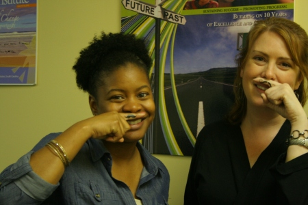Finger mustache temporary tattoos for fundraiser