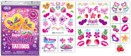 Berry scented temporary tattoos