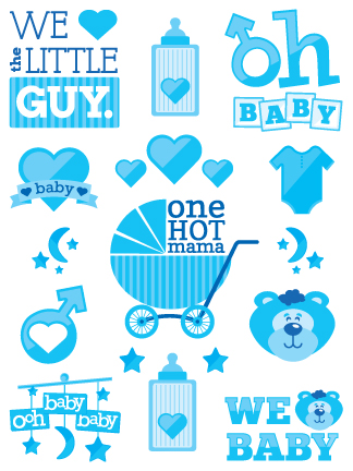 Boy baby shower tattoos