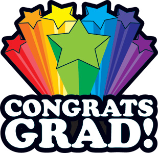 Congrats Grad colorful stars temporary tattoo