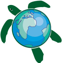 Earth Day turtle green temporary tattoo