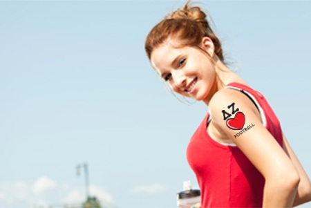 DZ Delta Zeta temporary tattoo football
