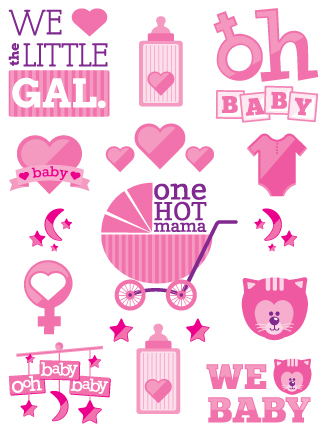 Girl baby shower tattoos