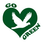 go green bird temporary tattoo