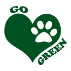 go green paw print temporary tattoo