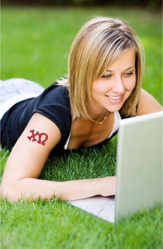 Temporary tattoos for sororities - recruitment or rush