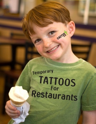 temporary tattoos for restaurants