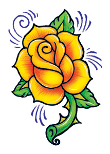 vintage rose temporary tattoo