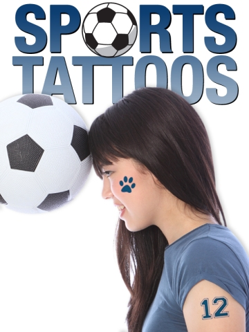 Temporary tattoos soccer sports